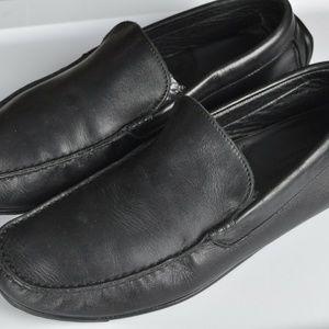 Ermenegildo ZEGNA Black Leather Driving Loafers